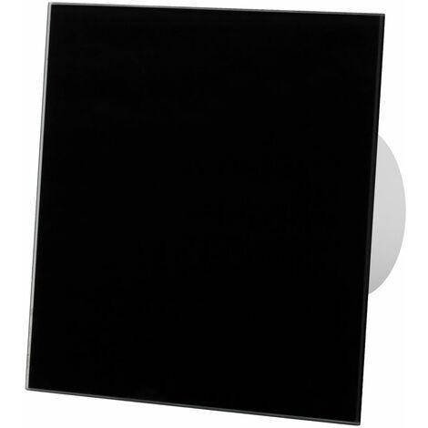 Ventilateur extracteur standard 100mm en façade en verre noir pour ventilation de plafond