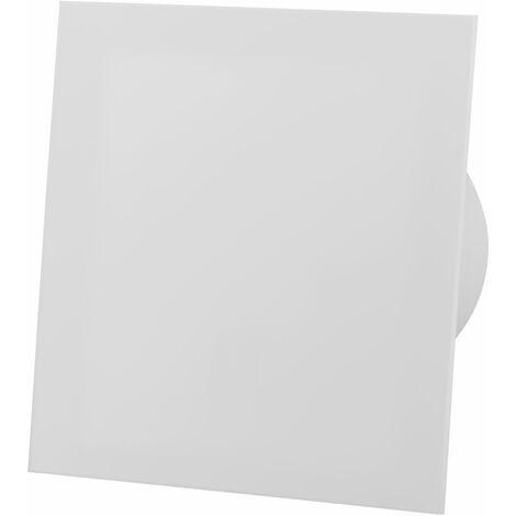Ventilateur extracteur standard 100mm en verre acrylique blanc mat pour ventilation de plafond