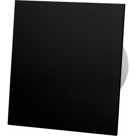 Ventilateur extracteur standard en verre acrylique noir 100mm pour ventilation de plafond