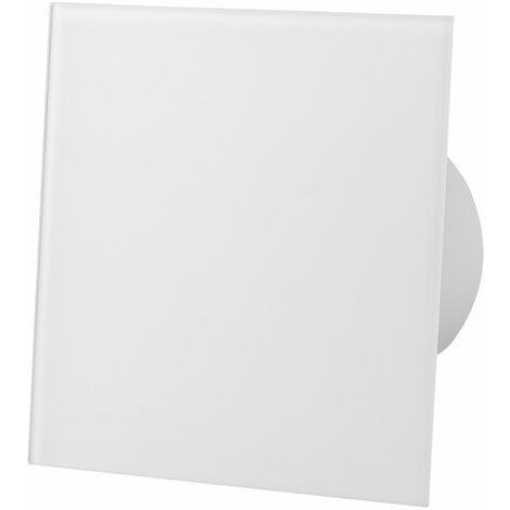 Ventilateur extracteur standard en verre blanc brillant de 100mm pour ventilation de plafond