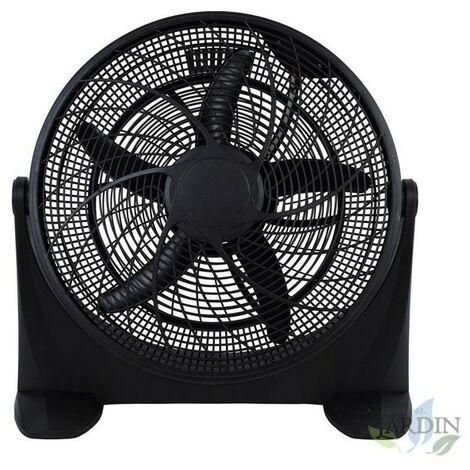"Ventilateur haute vitesse 20"" 100W noir 3 vitesses"