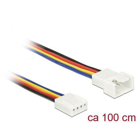 """main image of """"ventilateur PC Câble de raccordement [1x ventilateur PC mâle 4 pôles - 1x ventilateur PC femelle 4 pôles] 1.00 m multicolore Delock C699921"""""""