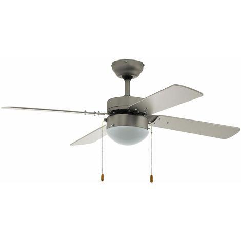 Ventilateur plafond Gelsina 107 cm avec éclairage et tirettes