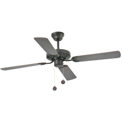 "main image of ""Ventilateur Plafond reversible Yakarta cm 35X35X121 FARO BARCELONA 33713"""