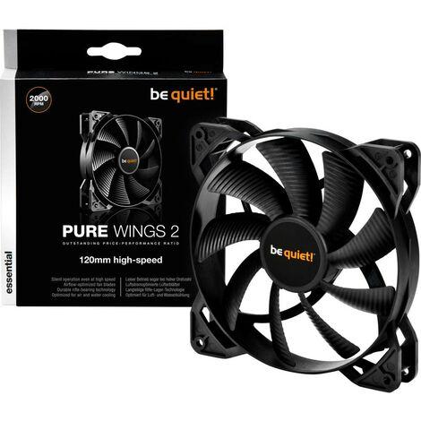 Ventilateur pour boîtier PC BeQuiet Pure Wings 2 noir (l x h x p) 120 x 120 x 25 mm