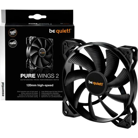 Ventilateur pour boîtier PC BeQuiet Pure Wings 2 PWM noir (l x h x p) 120 x 120 x 25 mm