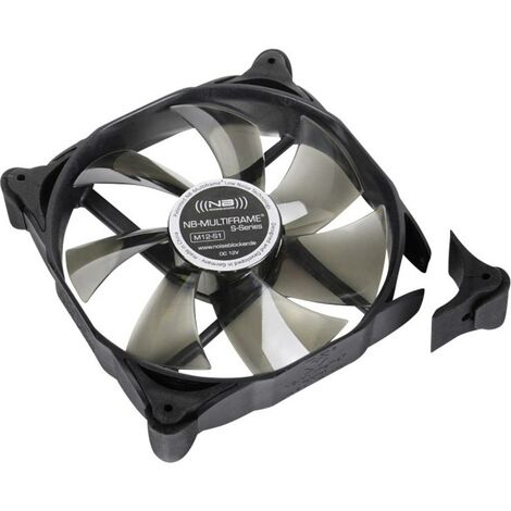 Ventilateur pour boîtier PC NoiseBlocker Multiframe M12-1 noir, gris (transparent) (l x h x p) 120 x 120 x 25 mm