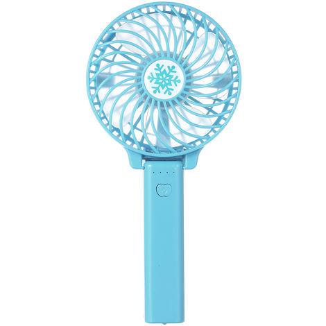 Ventilateur Rechargeable Pliable, Bleu