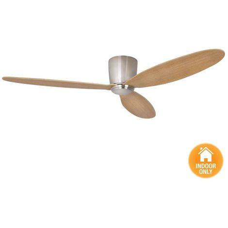Ventilateur sans lumière Chrome et Teck cm 132x19,5x132 Lucci Air 210519