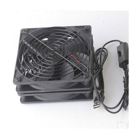 """main image of """"Ventilateur Silencieux Ventilateur USB Trois Vitesse Réglable Ventilateurs pc 12cm Fan 5v pour PC/TV Box/AV Cabinet/ PS4"""""""