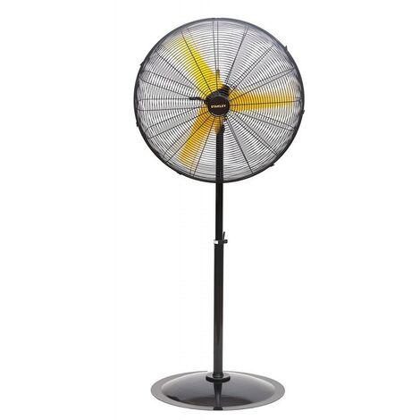 Ventilateur STANLEY 300W Pied ou Sol 3 vitesses Oscillant Haute Qualité acier Grille de sécurité