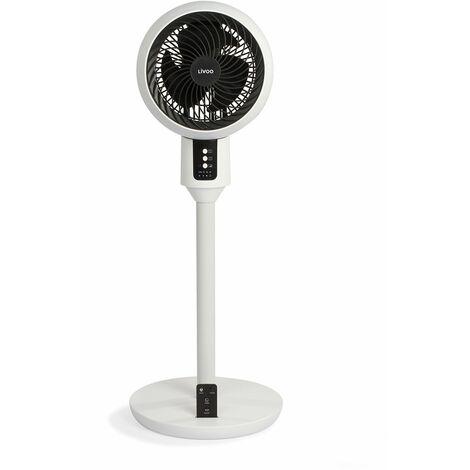 ventilateur sur pied 23cm 45w blanc - dom412 - livoo