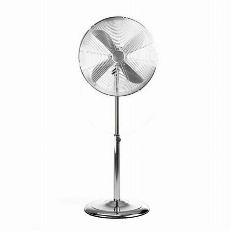 Ventilateur sur pied 60W Ø45 cm LIVOO - finition chromé - hauteur réglable - DOM270