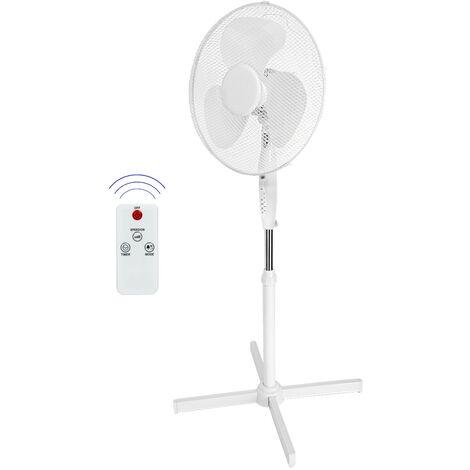 Ventilateur sur pied avec télécommande fonction minuterie hauteur réglable 45W