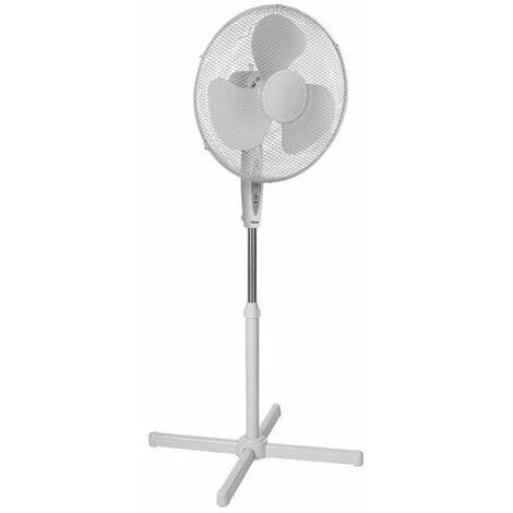 Ventilateur sur pied blanc 40cm avec télécommande