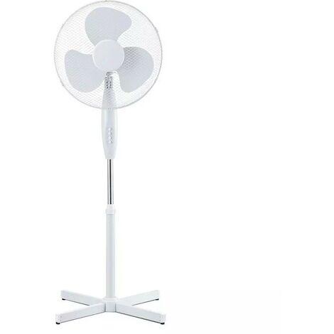 Ventilateur sur Pied Blanc 40W 3 Vitesses Oscilation