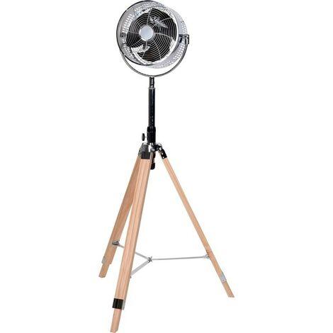 Ventilateur sur pied - bois - réglable