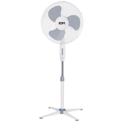 Ventilateur sur pied EDM 45W - 40cm - Blanc 33500