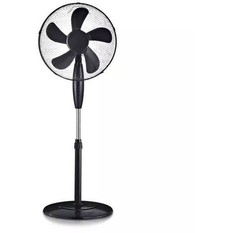 Ventilateur sur Pied Noir 55W 3 Vitesses Oscilation