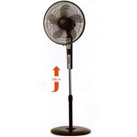 Ventilateur sur pied noir H1550mm Ø 400mm oscillant 3690m3/h 65W STANDY BLACK ARGO 398200011