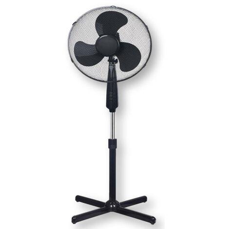 Ventilateur sur pied Noir Tecnolux - Diamètre 40 cm