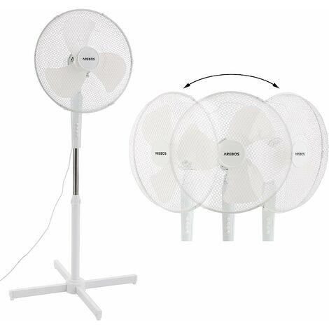 Ventilateur sur pied Refroidisseur d'air Unité de refroidissement 45 W Blanc