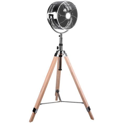 Ventilateur sur pied refroidisseur de cuisine anti-moustique 3 étages ventilateur de trépied bois réglable en hauteur Réalité R036 -06