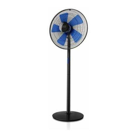 Ventilateur sur pied, noir et bleu, diamètre 40cm BOREAL ELEGANCE 16C