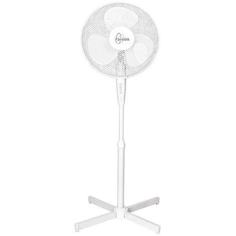 Ventilateur TENESSEE D. 40 cm sur pied 3 vitesses blanc 50 W 230 V - 112100 - Fartools - -