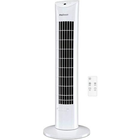 Ventilateur Tour Oscillant avec Télécommande et Minuteur pour la Maison et Le Bureau - 76 cm Pro Breeze