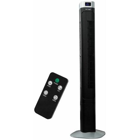 Ventilateur tour, télécommande, minuterie, oscillant, H120 cm