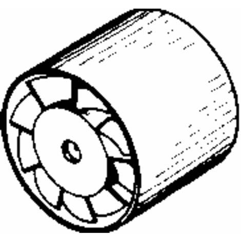 Ventilateur tubulaire encastrable 12 V/DC 95 m³/h 10 cm Wallair 20100257