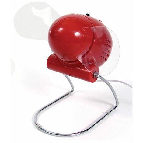 Ventilateur USB à hélices - Puissant et compact - Rouge - Livraison gratuite