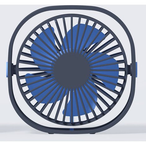 Ventilateur USB, Mini Ventilateur, Ventilateur Silencieux, Portable Ventilateur USB Silencieux 3 Vitesse Réglable USB, USB Ventilateur pour Camping, Bureau, Sport, Voyage, Alimenté par USB,blue