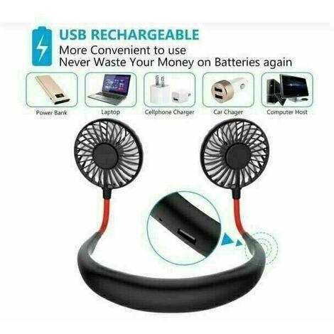 Ventilateur USB suspendu au cou, ventilateur mains libres, mini ventilateur, ventilateur USB mains libres portable