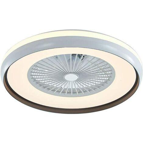 Ventilateurs de Plafond avec Lampe Intégrée 23'' Lustre de Ventilateur SYF-C007 avec 3 Vitesses Réglables