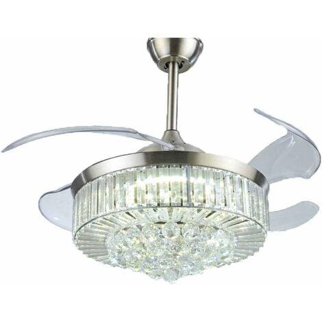 Ventilateurs de Plafond avec Lampe Intégrée Ventilateur Plafonnier 42'' Moderne Ventilateur avec Télécommande pour Chambre Maison Bureau