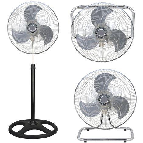 Ventilatore 3 in 1 Con 3 Velocita/' a Piantana Da tavolo a Parete DCG VE1695