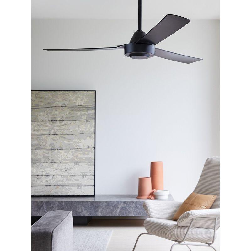Ventilatore da soffitto in plastica Bayside Calypso 45 W diametro 122 cm colore: Nero