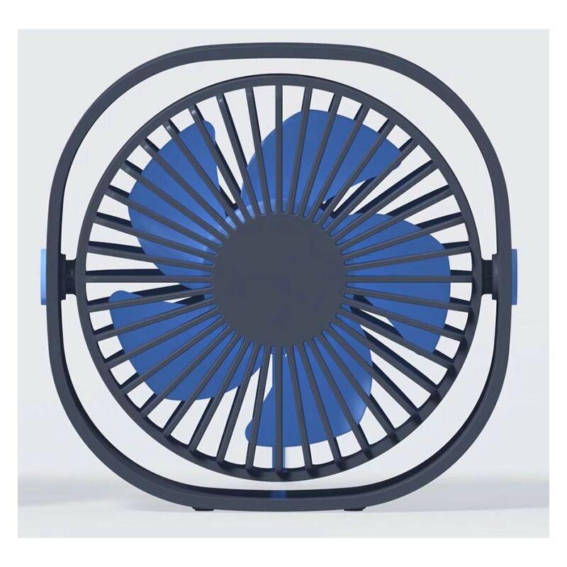 Betterlifeit Ventilatore a 3 velocità USB Desktop Ventola Velocità Velocità rotativa 360 gradi blu