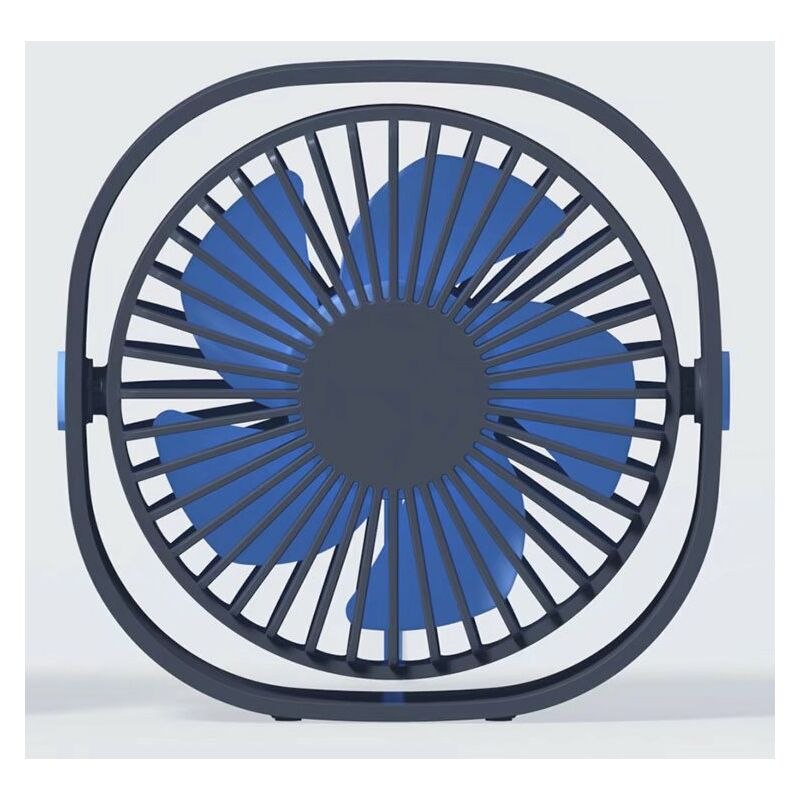 Ventilatore a 3 velocità USB Desktop Ventola Velocità Velocità rotativa 360 gradi blu