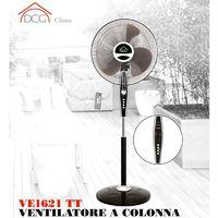 Ventilatore a Colonna Pala 40 cm con Timer e Telecomando Nero Silver DCG VE1621