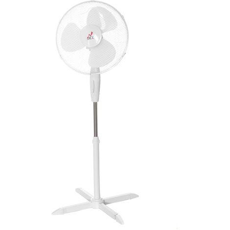 Ventilatore a Piantana JCL 40W bianco pala 40 cm 60x40x145 cm