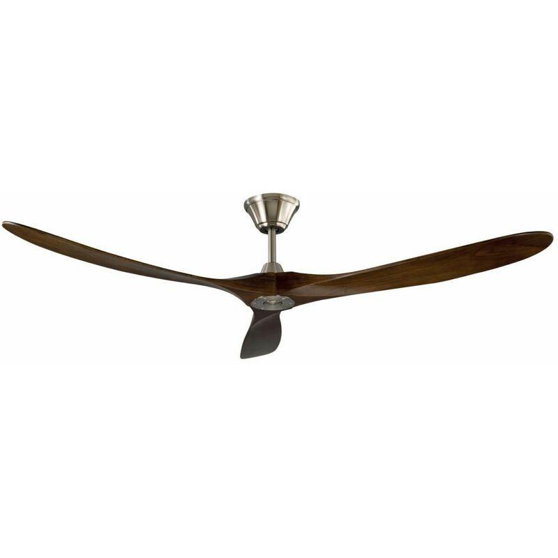 Ventilatore a Soffitto 3 Pale Legno con Timer Telecomando Ventola Moderno Grande - BRICOSHOP24