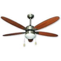 Ventilatore a soffitto 5 pale marrone con telec.