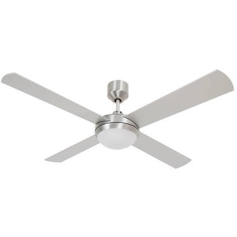 Ventilatore a soffitto e luce led silver cm 122x40x122 Lucci Air 211026