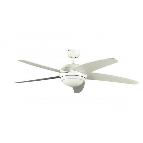 Ventilatore a soffitto Melton Bianco cm 132x38x132 Pepeo GmbH 1341201033