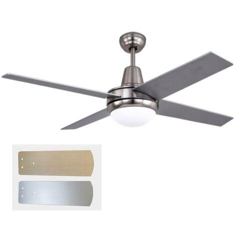 Lampadario A Pale Con Telecomando.Ventilatore A Soffitto Pale Con Luce E Telecomando 3 Velocita Ventola Lampadario