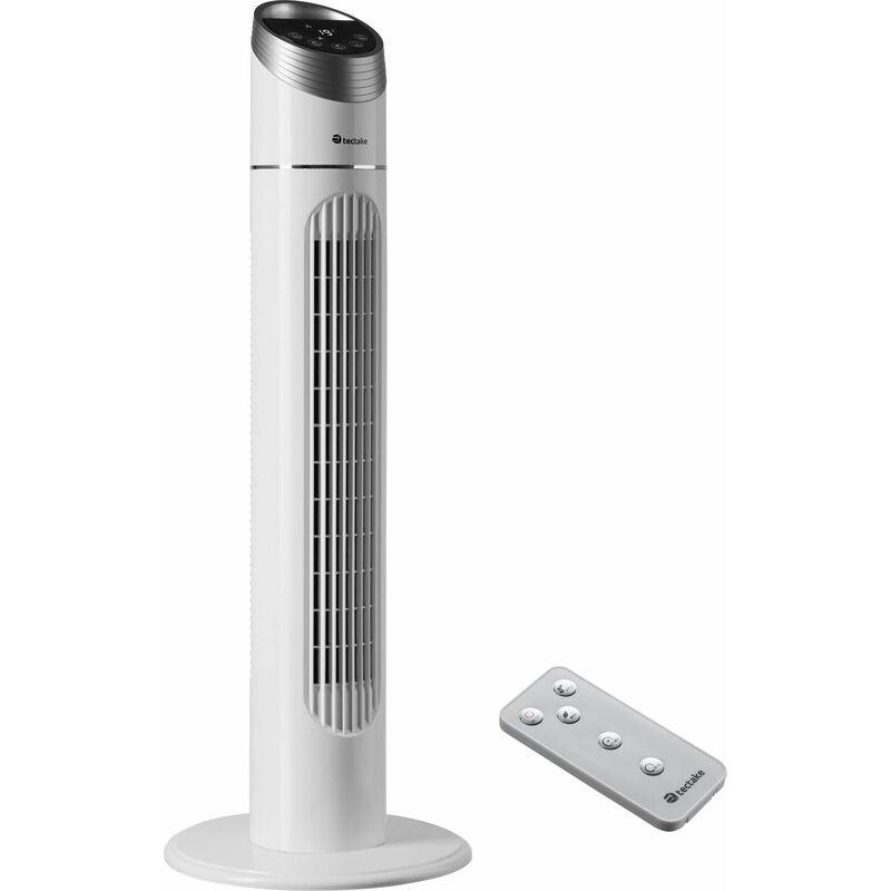 Tectake Ventilatore a torre 90 cm Ventilatore a torre, ventilatore, ventilatore verticale bianco