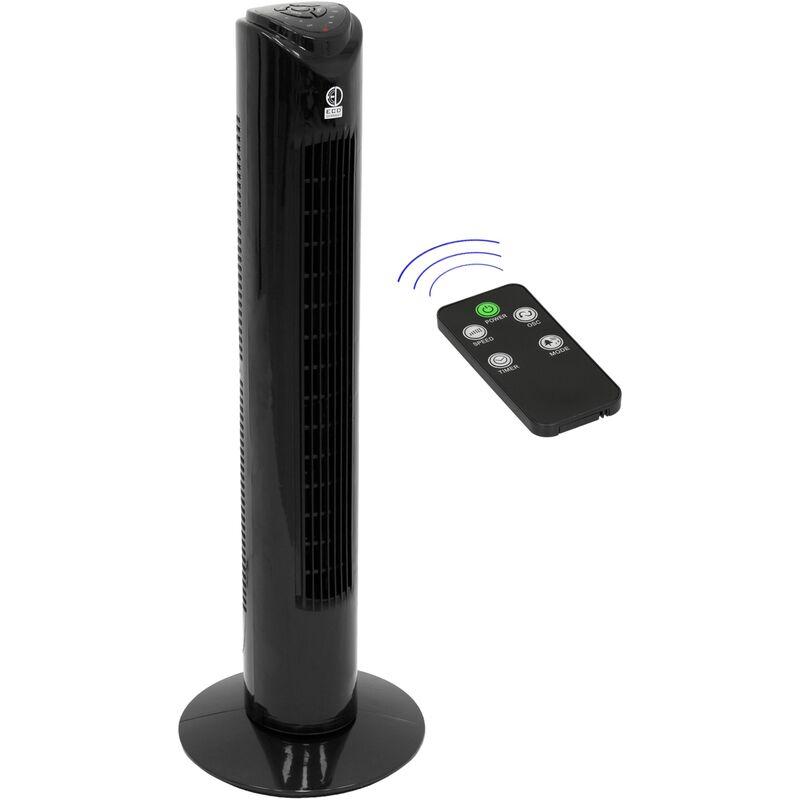 Ecd Germany Ventilatore a torre colonna 45 W 81 cm con 3 velocità nero telecomando incluso